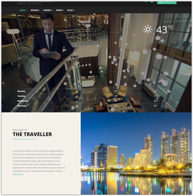 The Traveller - Hotel HTML Template