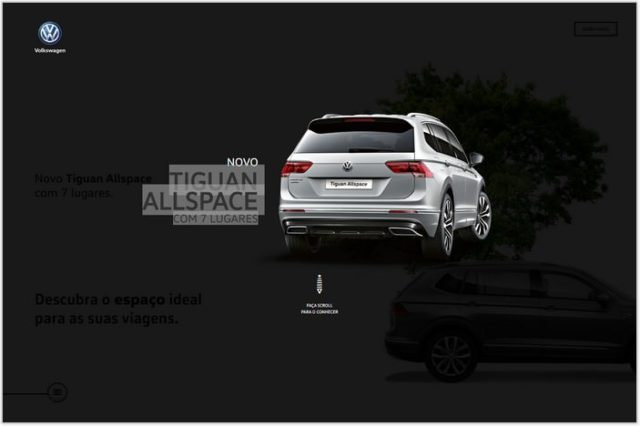 Tiguan Aall Space- Single Page Examples