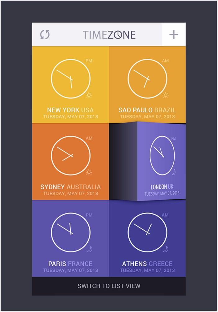 Time Zone App UI