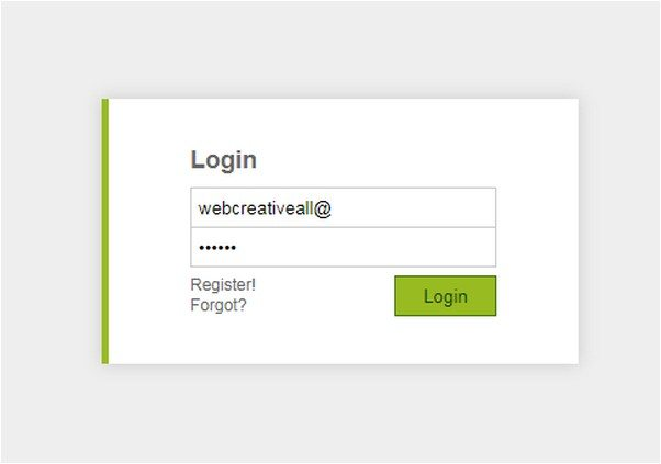 Toggle Login/Register Form