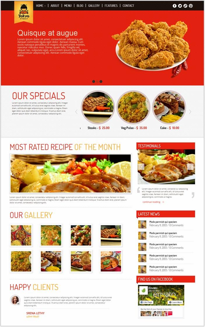 TokyoStreet - Restaurant HTML5 & PHP Theme