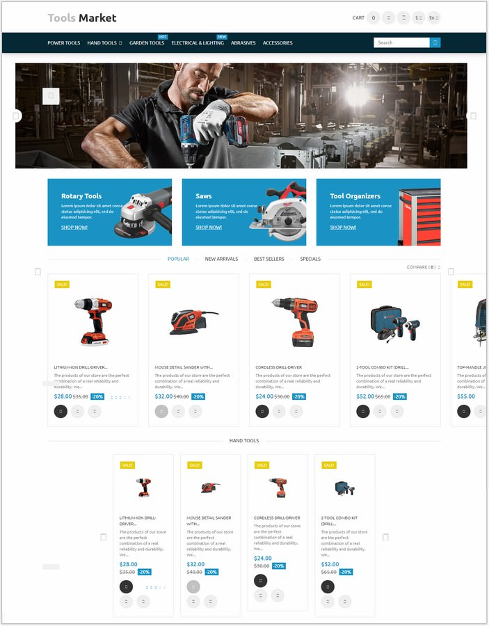 Tools Market PrestaShop PHP Theme