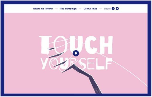 Touch Yourself- Single Page Examples