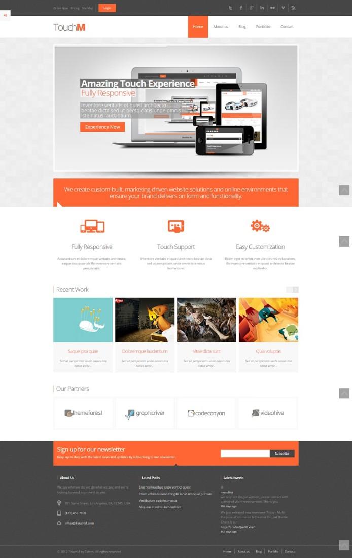 TouchM - Responsive HTML5 & CSS3 Drupal Theme