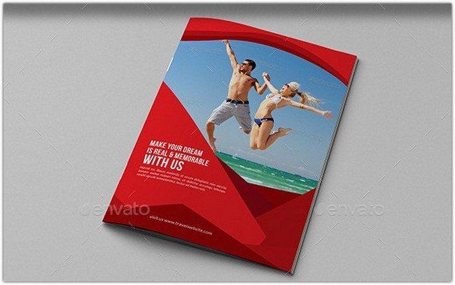 Travel Agency Bifold Brochure Template