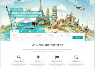 travel HTML5 website templates