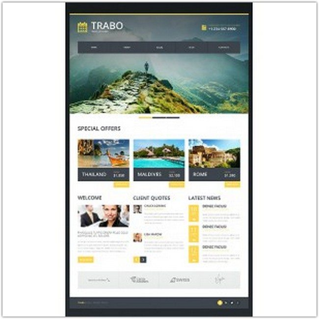 Travel Agency Bootstrap Website Template 47338