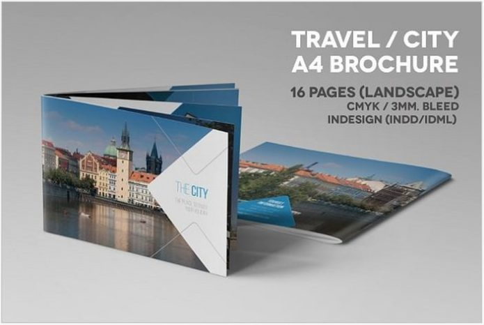 Travel City A4 landscape Brochure