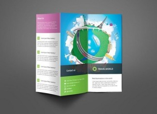 Travel Company Trifold Brochure