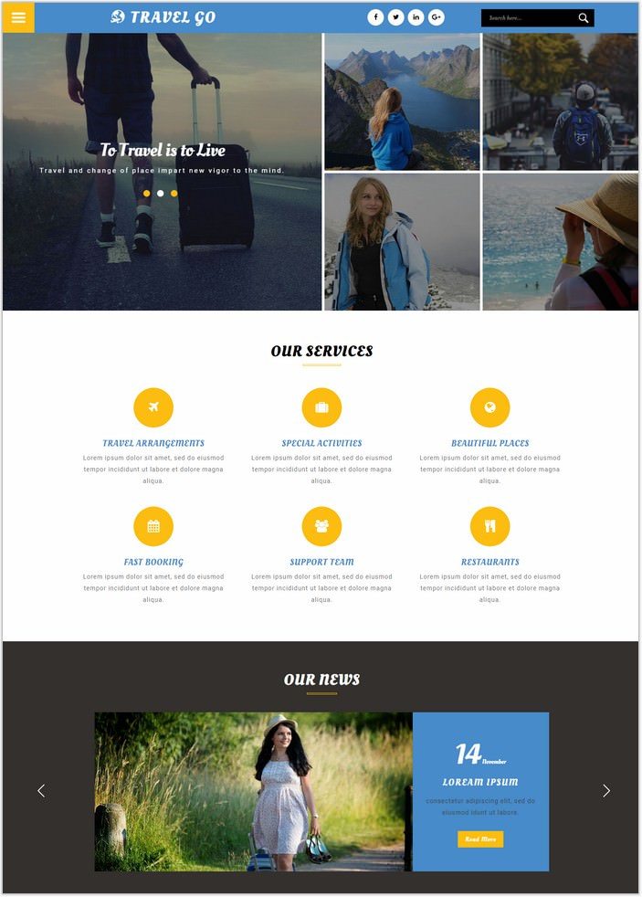 Travel Go a Travel Category Web Template
