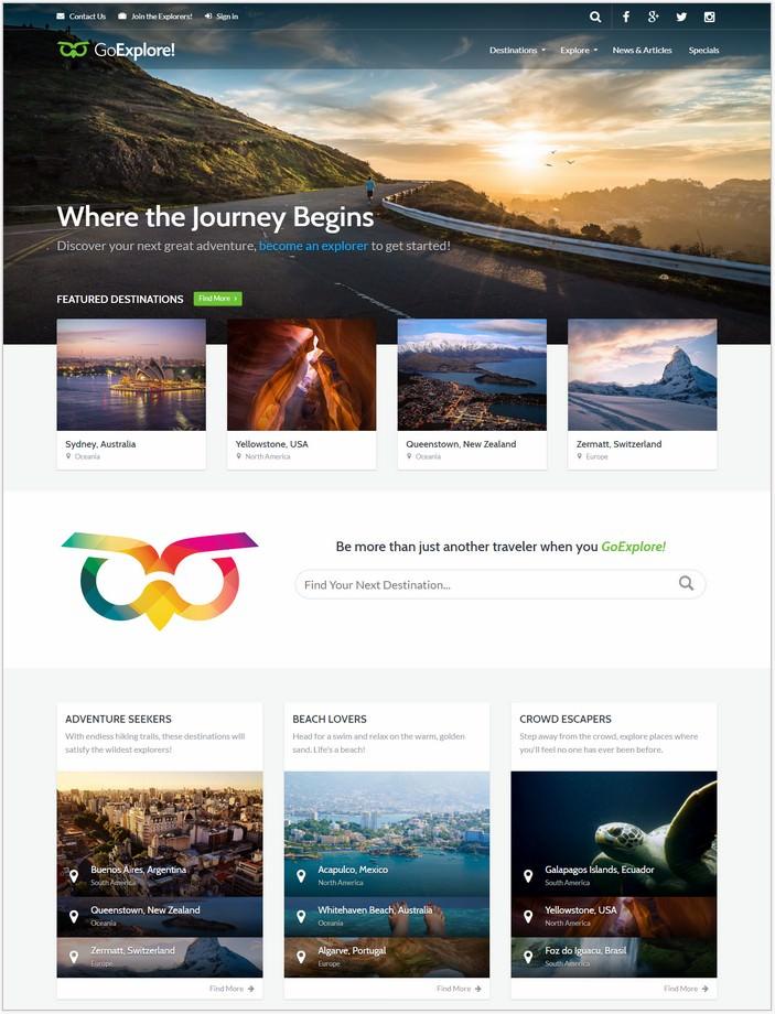 Travel HTML Template - GoExplore!