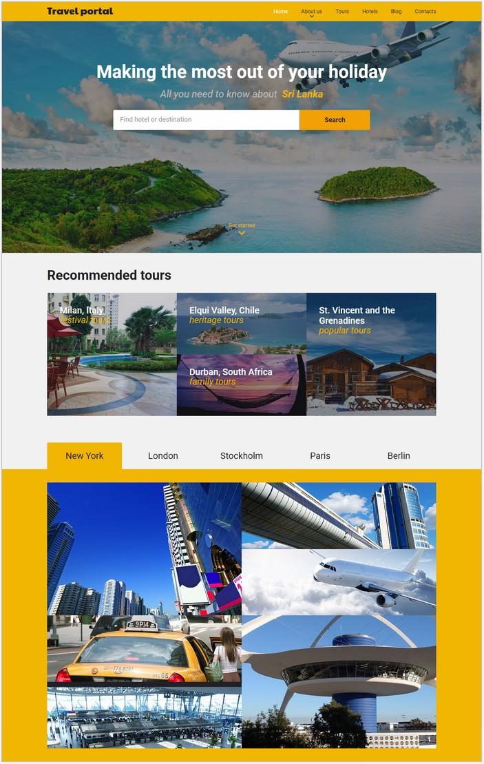 Travel Responsive Website Template # 2