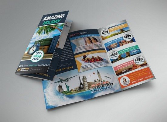 Travel & Tour Trifold Brochure and F