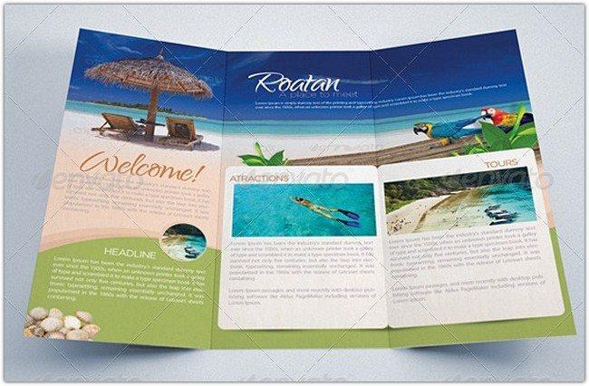 Travel and Tourism Brochure - Caribbean Beach