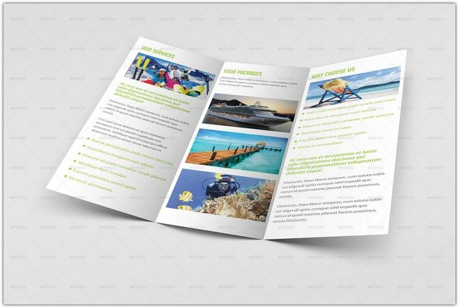 Travel and Tourism Trifold Brochure