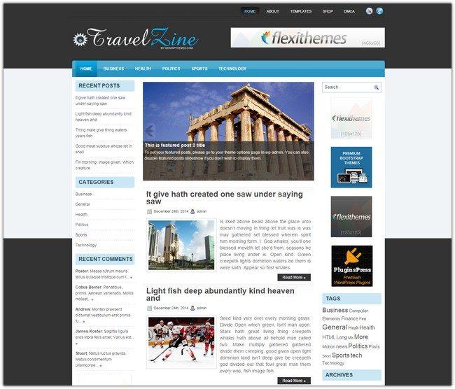 TravelZine WordPress Theme