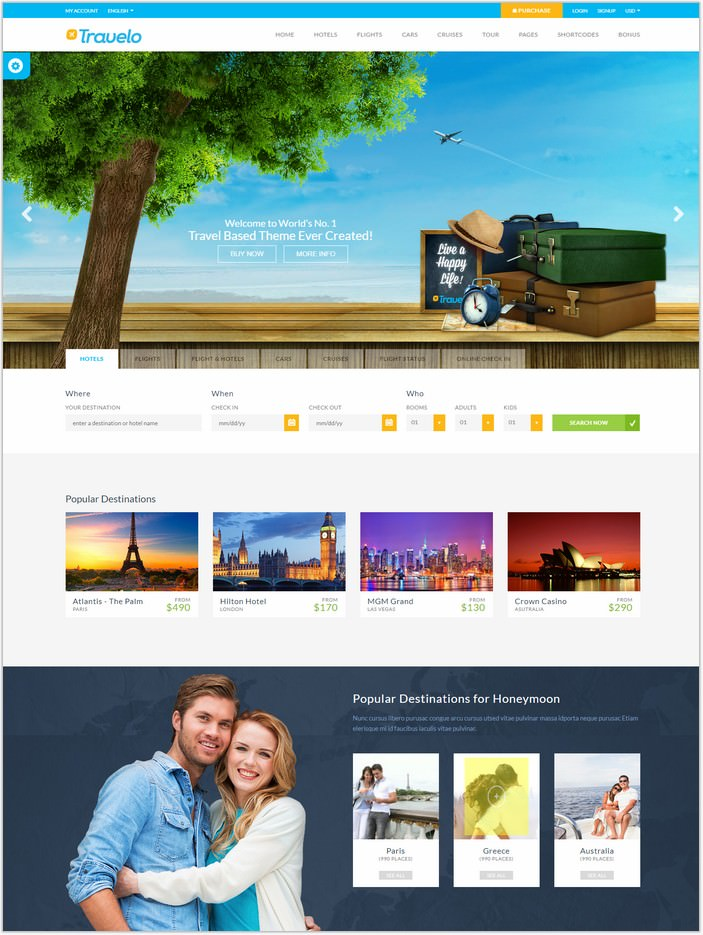 Travelo - Hotel Booking HTML5 Template