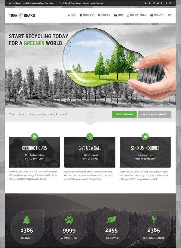 TreeBeard - Ecology/Environmental WordPress Theme