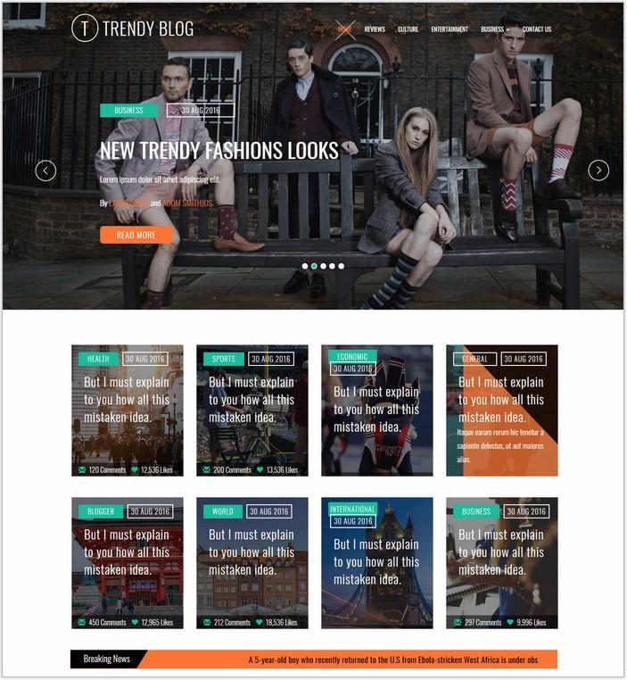 Trendy Blog Bootstrap Responsive Web Template