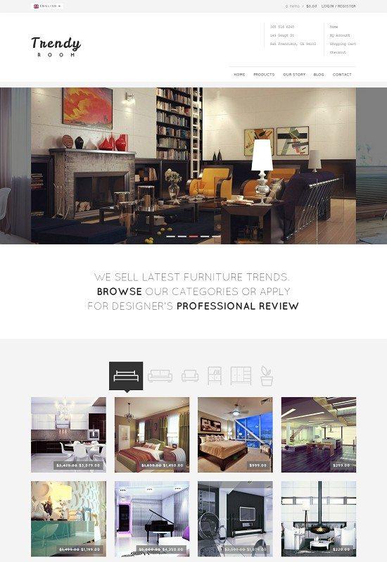 Trendy Room - Elite E-Commerce WordPress Theme