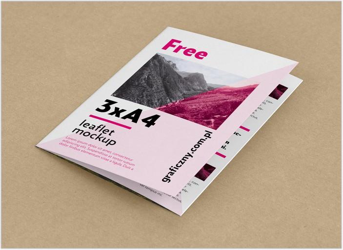 Tri-Fold A4 Brochure Mockup PSD