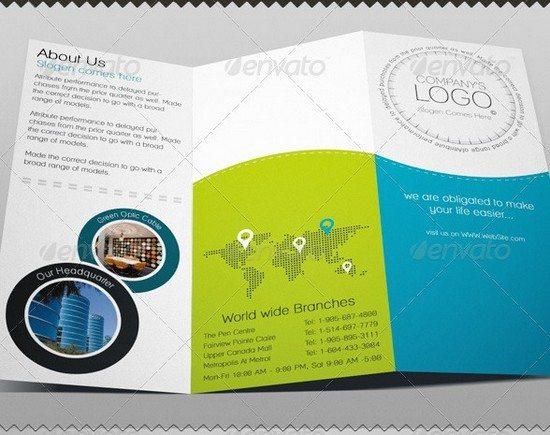 Tri-fold Brochure PSD Template - Studio Boo Product