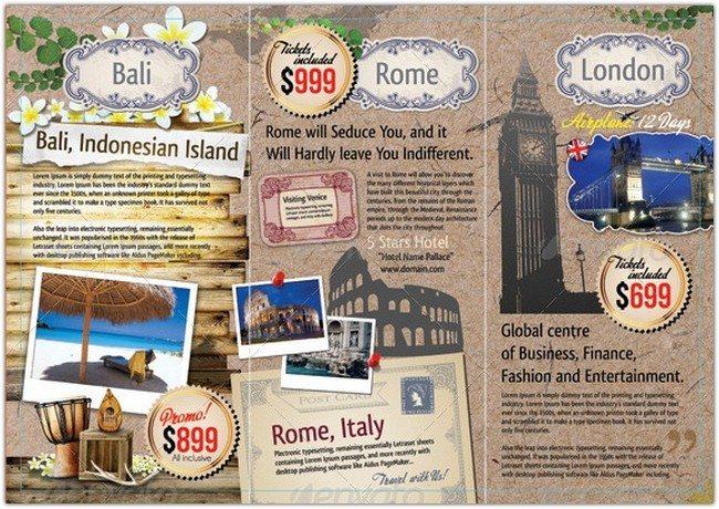 Tri-fold Travel & Tourism