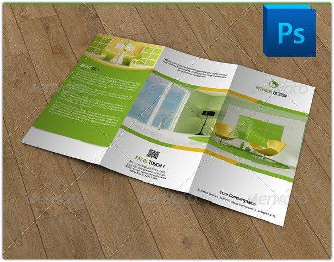 Trifold Brochure for Interior Design-V39