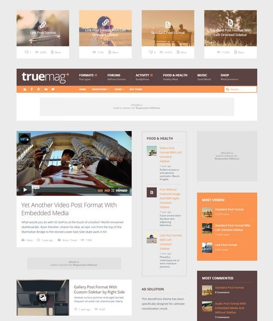 Truemag AD & AdSense Optimized Magazine