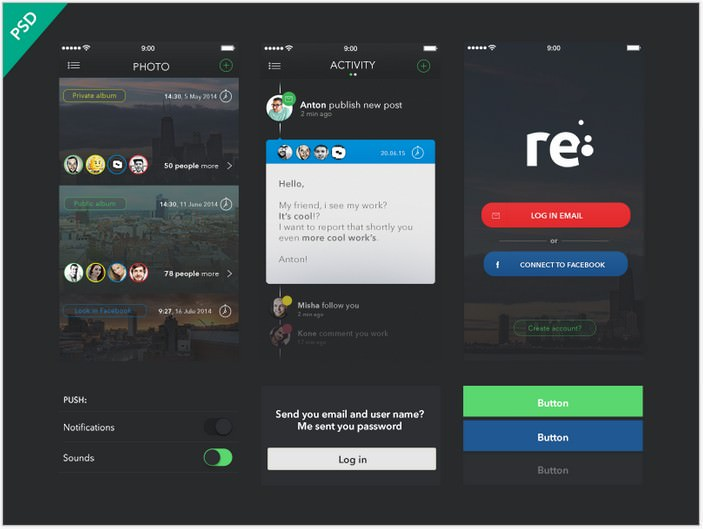 UI Kit Re-App (Freebies)