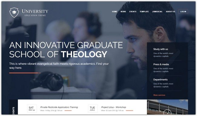 UNIVERSITY JOOMLA EDUCATION TEMPLATE