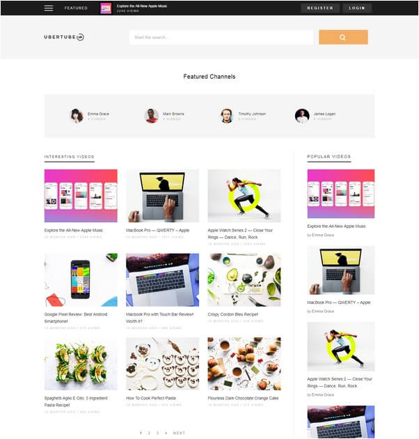 UberTube - Video WordPress Theme