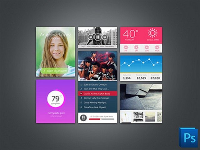 Photoshop UI kits