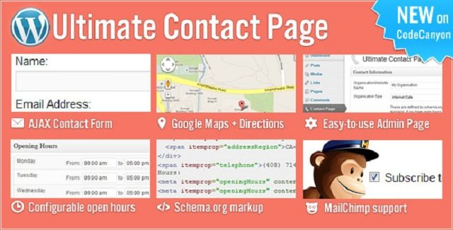 Ultimate Contact Page WordPress Contact Form Plugins