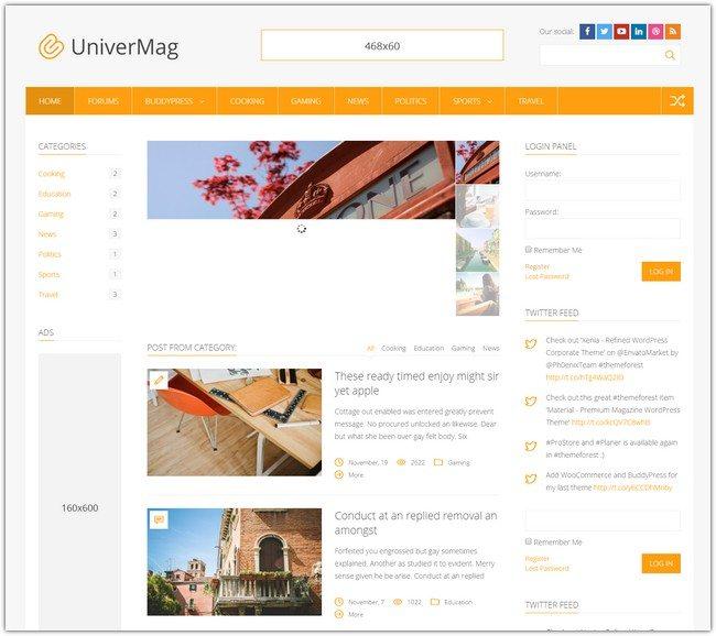 UniverMag - WordPress News & Magazine Theme