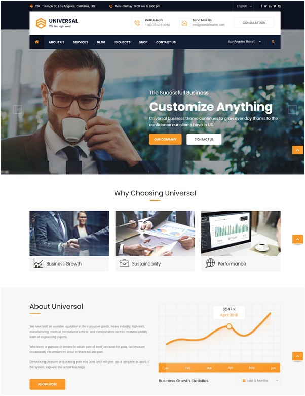 Universal - Business, Consulting and Professional Services HTML Template