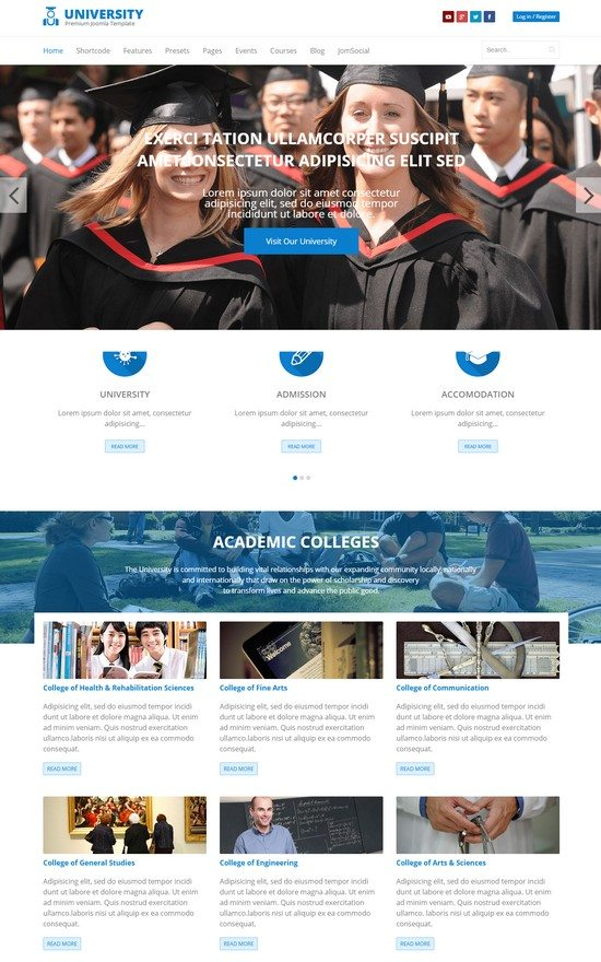 University Education College Joomla Template