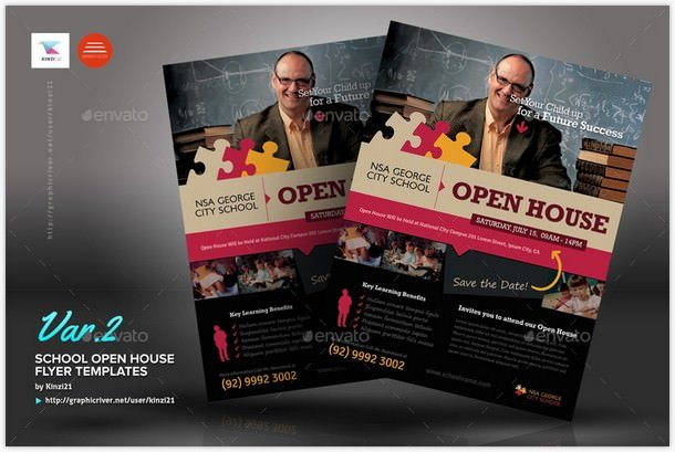 University Open House Flyers