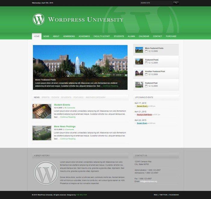 University WordPress Theme For Colleges