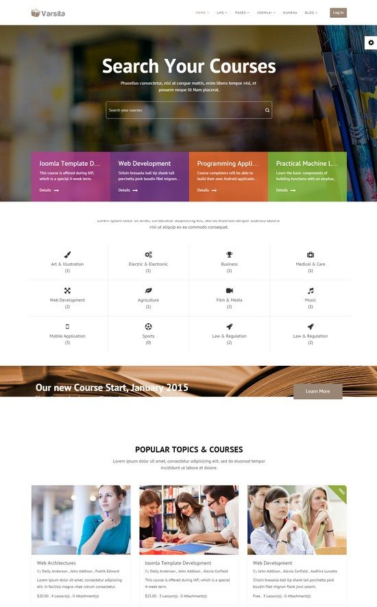 Varsita Education Joomla Template