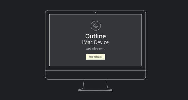 Vector Apple Outline Device PSD