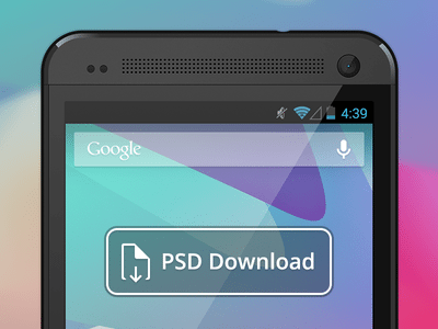 Vector HTC One PSD Download