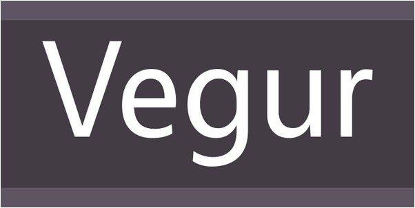 Vegur Font
