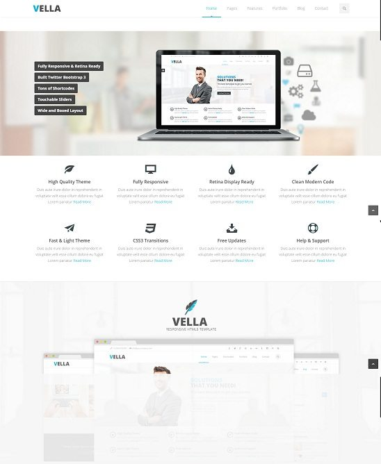 Vella - Retina Responsive Multi-Purpose Theme