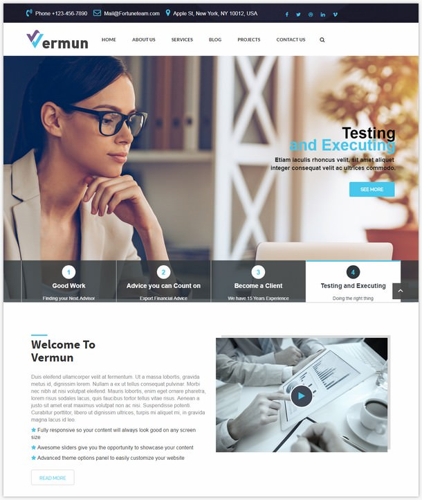 Vermun-Consulting and Business & Finance WordPress Theme