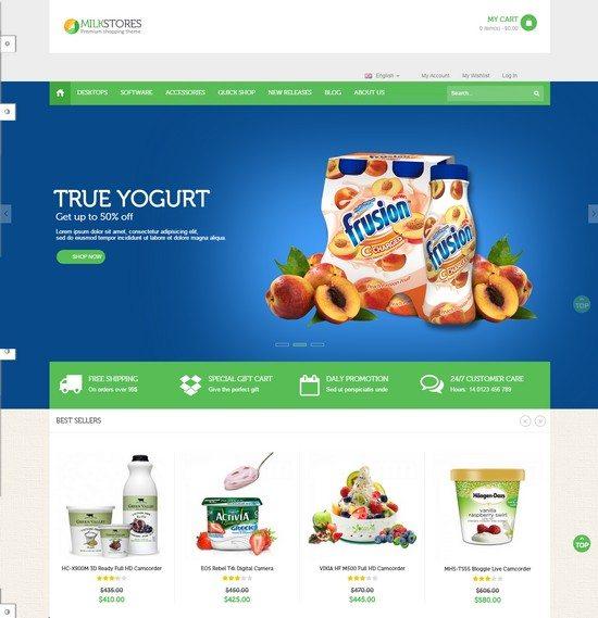 Ves Milk Store Responsive Magento Theme