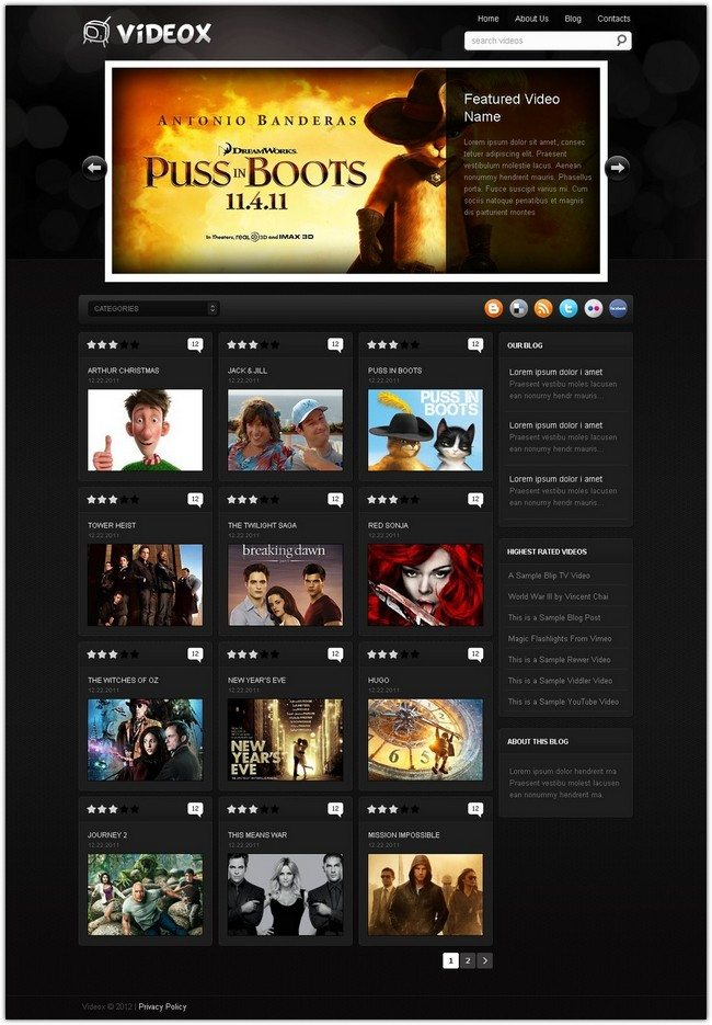 Videobox Movie WordPress Theme