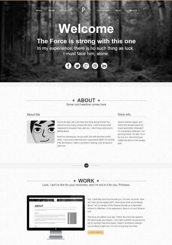 Viewpoint - Responsive single page portfolio