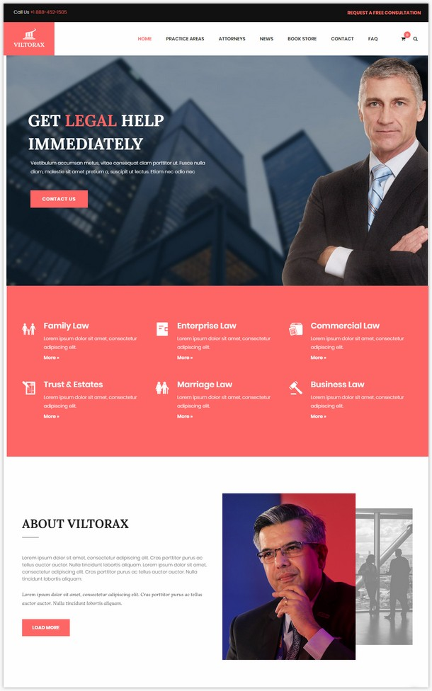 Viltorax - Lawyer WordPress Theme