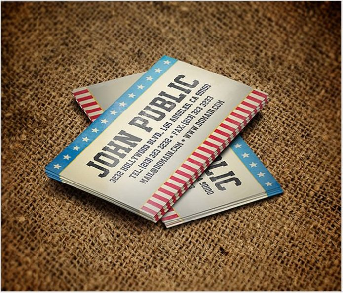 Vintage America Business Card Template